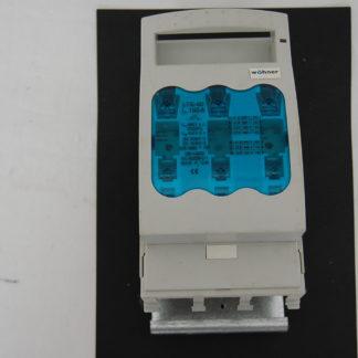 Wöhner Lasttrennschalter LTS-00 160A + Sicherungen 3x 50A  + Halterung