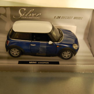 Modellauto Mini Cooper 1:24 Silver Collection