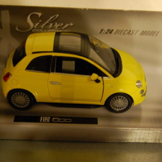 Modellauto Fiat 500  1:24 Silver Collection