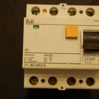 F&G FI  Schutzschalter XF7 40/4/003G