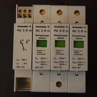 Weidmüller Überspannungsschutz- Ableiter PU 3 R mit Fernmelde Kontakt