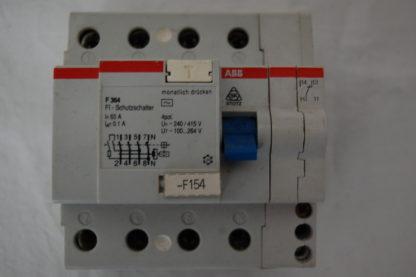 ABB FI Schutzschalter F364  63A 01 mit Hilfsschalter
