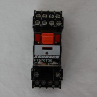Schrack PT570T30 Relais mit Sockel