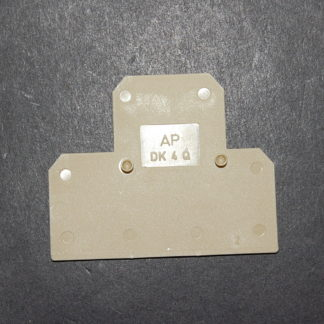Weidmüller AP DK 4 Q Abschlussplatte