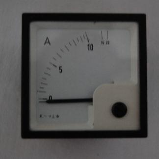 Analoger Amperemeter 10A Einbaumasse 65mm x 65mm x 63mm