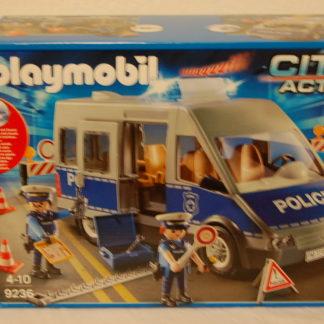 PLAYMOBIL 9236 Polizeibus mit Straßensperre