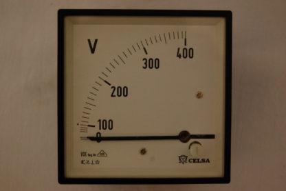 Celsa Voltmeter 0 - 400 V für Schaltschrankeinbau Einbaumasse 88 mm x 88 mm x 60mm