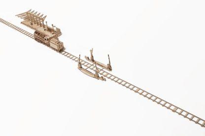 UGears Zubehör Lokomotive: Bahnübergang und Schienen