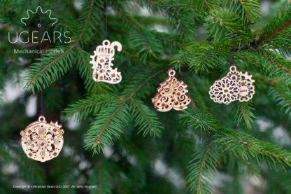 UGears 4er Set Minimodelle - Happy New Year