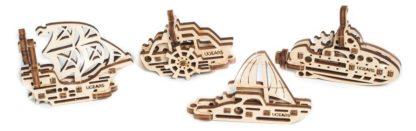 UGears 4er Set Minimodelle Schiffe
