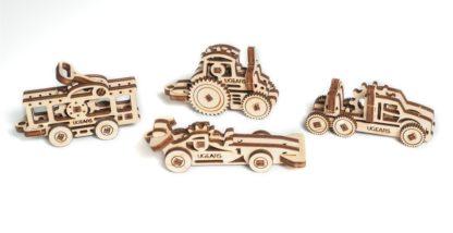 UGears 4er Set Minimodelle Fahrzeuge