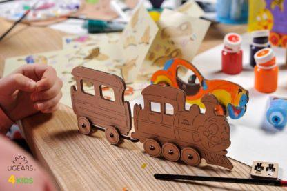 UGears Lokomotive Kinderbausatz